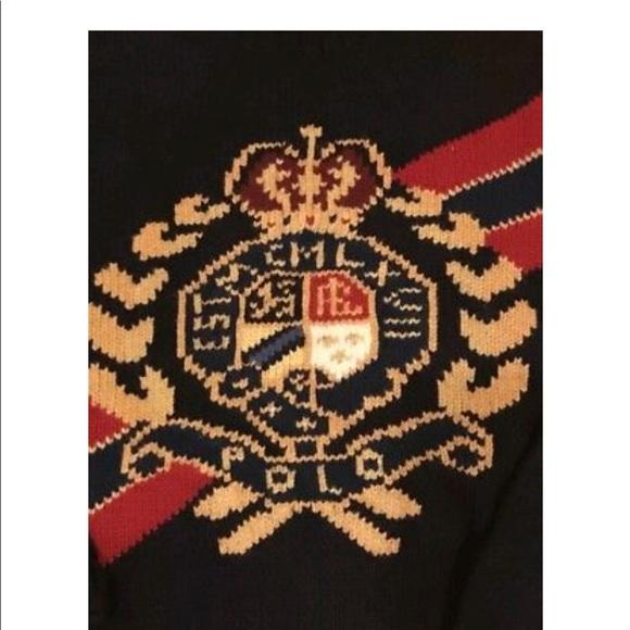 562b7cc9bd21c Polo Ralph Lauren Gold Crown Crest Turtleneck